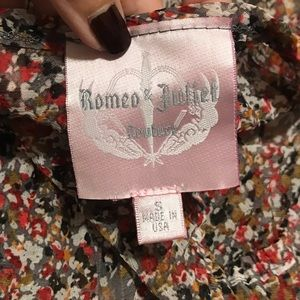 Romeo & Juliet Couture Tops - Sheer Floral blouse